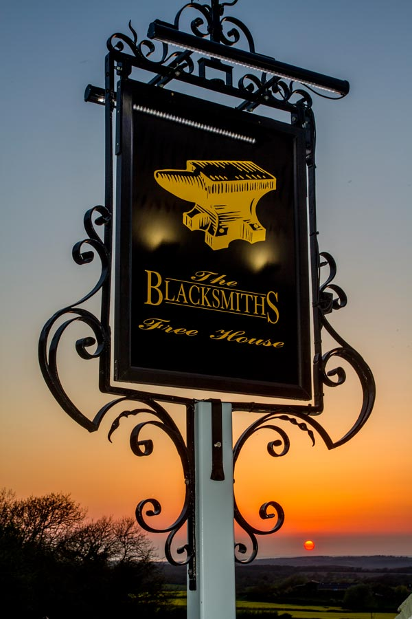 Blacksmiths pub sign